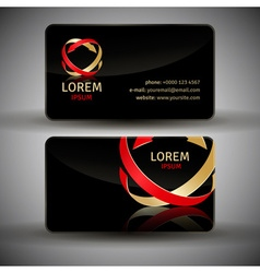 Icon design element with business card vector
