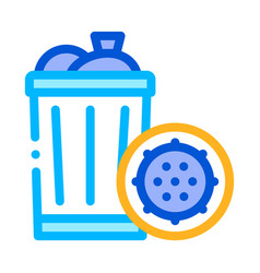 infection bacteria germ in trash sign icon vector image