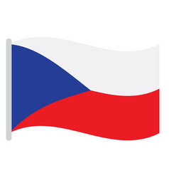 isolated czech flag vector image