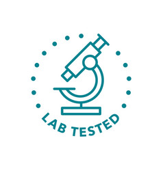 lab tested round badge icon design vector image