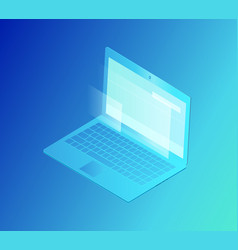 Laptop with screen isolated vector