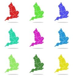 Map england vector