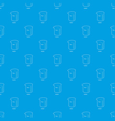 Measuring cup pattern seamless blue vector