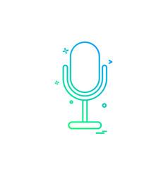 mike recorder sound voice icon design vector image