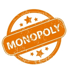 Monopoly grunge icon vector