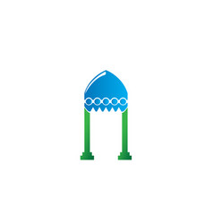mosque dome with columns for logo design vector image