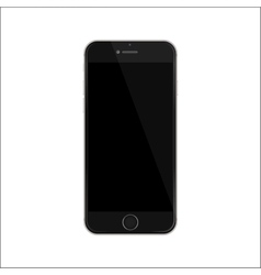 New version of black slim smartphone vector image