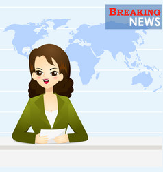 news announcer telling news in studio vector image