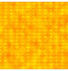 Orange seamless pattern with hexagon shapes vector image