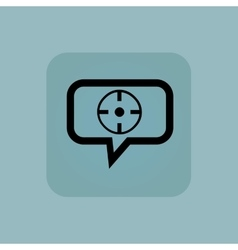 Pale blue target message icon vector