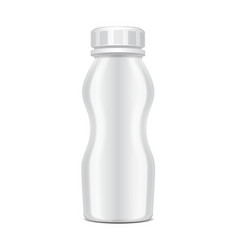 Plastic bottle with screw cap for dairy vector