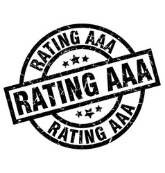 rating aaa round grunge black stamp vector image