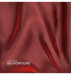 Red silk fabric vector