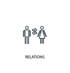 relations concept line icon simple element vector image
