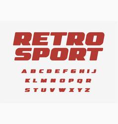 Retro sport font thick alphabet fat letters wide vector