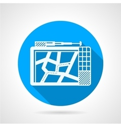 Round flat icon for GPS device vector image
