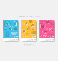 simple annual report 2019 or poster design vector image