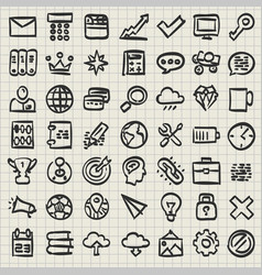 sketch of technology icon set vector image