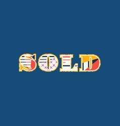 Sold concept word art vector