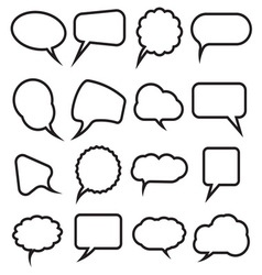 Speech bubles simpe2 resize vector