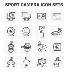 Sport Camera Icon vector image