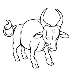 stylised ox vector image