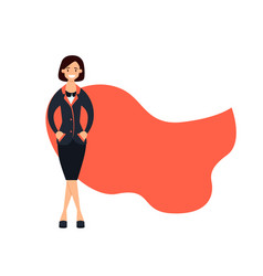Successful business woman superhero vector