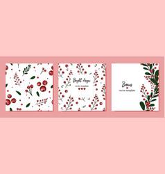 Summer designs set berries seamless vector