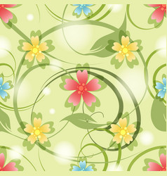 summer medow flowers seamless pattern vector image