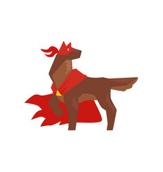 superhero dog character standing in heroic pose vector image