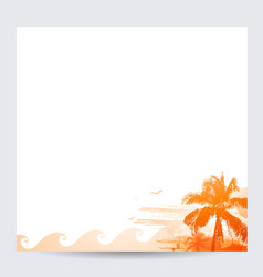 tropical summer banners vector image