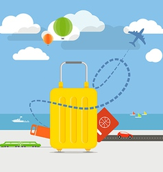 Vacation travelling concept Flat design vector