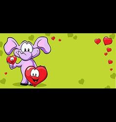 valentine frame with elephant vector image