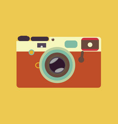 Vintage rangefinder film camera vector