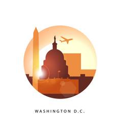 washington dc united states detailed silhouette vector image