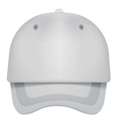 white cap front view mockup realistic style vector image