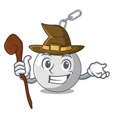 Witch wrecking ball isolated on a mascot vector