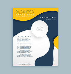 Yellow cover brochure flyer design poster leaflet vector