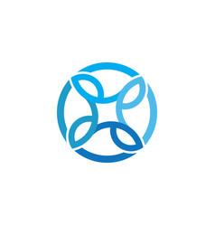 Circle business ornament logo vector