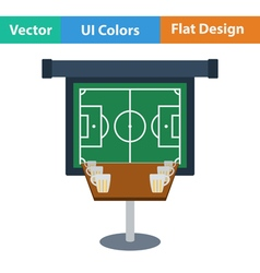 Flat Design Single football fans vector image vector image