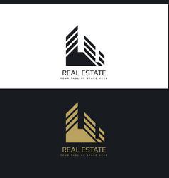 Real estate logo design in minimal style vector