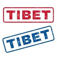 Tibet Rubber Stamps vector image vector image