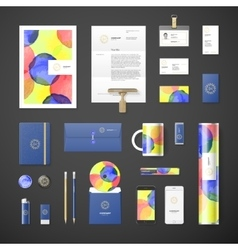 Watercolor corporate identity vector image