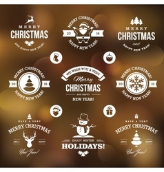 White Christmas labels vector image vector image
