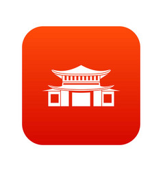 chinese icon digital red vector image vector image