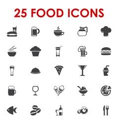 Food icons basics series vector image