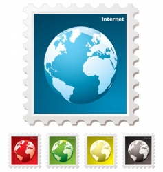 internet world stamp vector image vector image