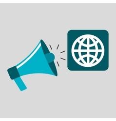 Marketing digital globe concept vector