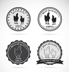 Set of chicken labels vector image vector image