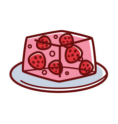 strawberry jelly with whole berries inside on vector image